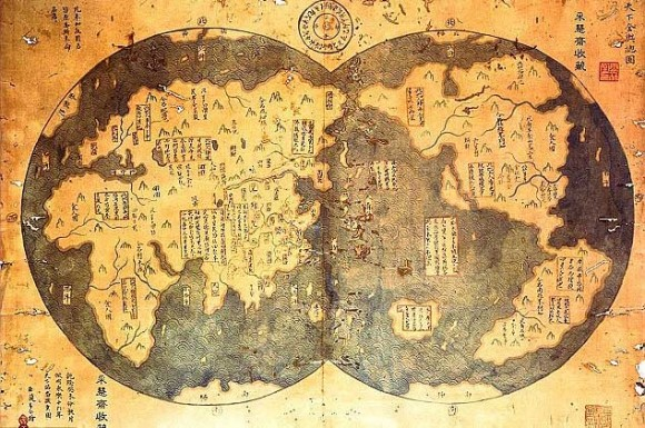 alleged-18th-century-1418-map-charted-by-Chinese-Admiral-Zheng